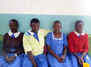 photo of girls in the feeding program
