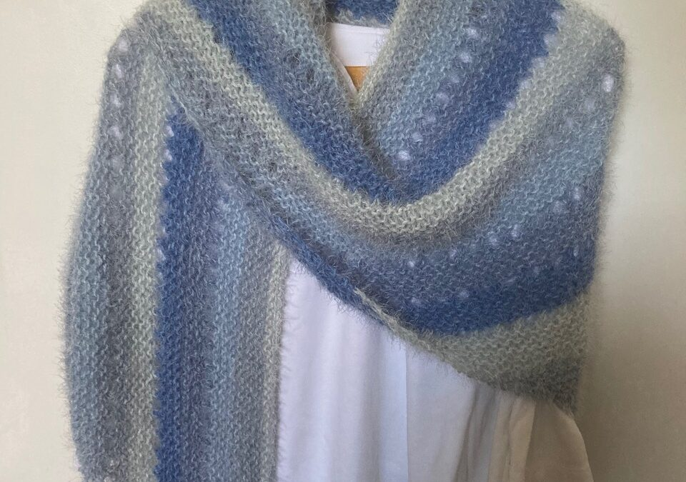 Knitted Shawl, by Cathy Fairley