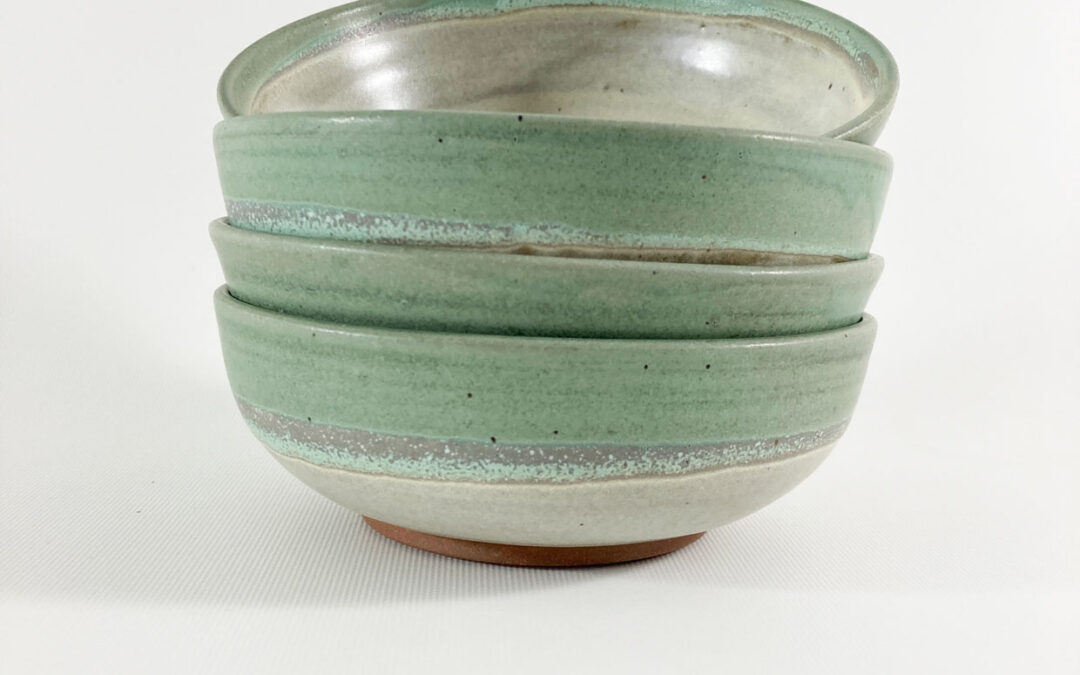 Set of Four Handmade Pottery Bowls, by Craig Fairley