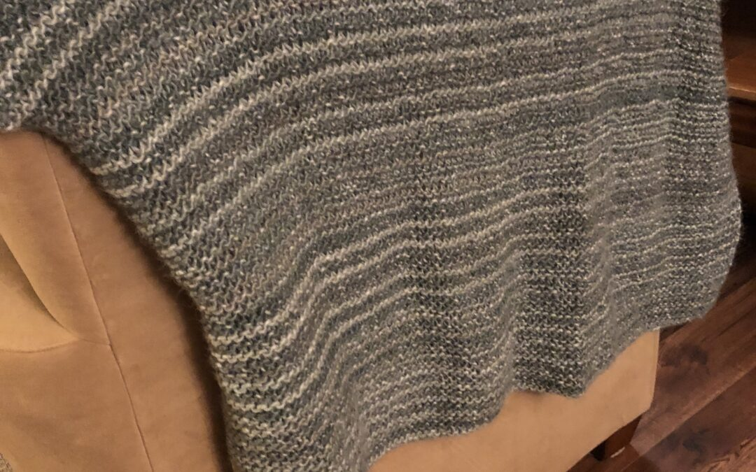 Afghan, Knitted by Louise Rayner