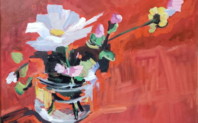 Flowers for Mom, Painting by Karyn Black