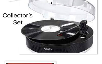 Bluetooth turntable plus albums and gift certificate